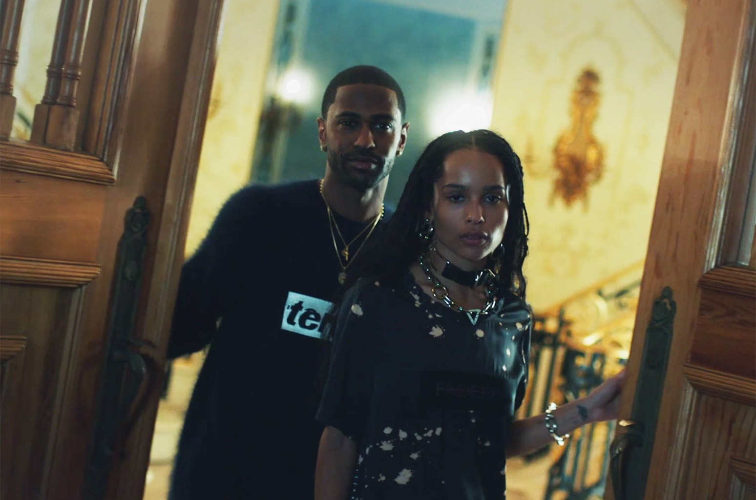 Big Sean and Zoë Kravitz in the Alexander Wang AW16 Campaign