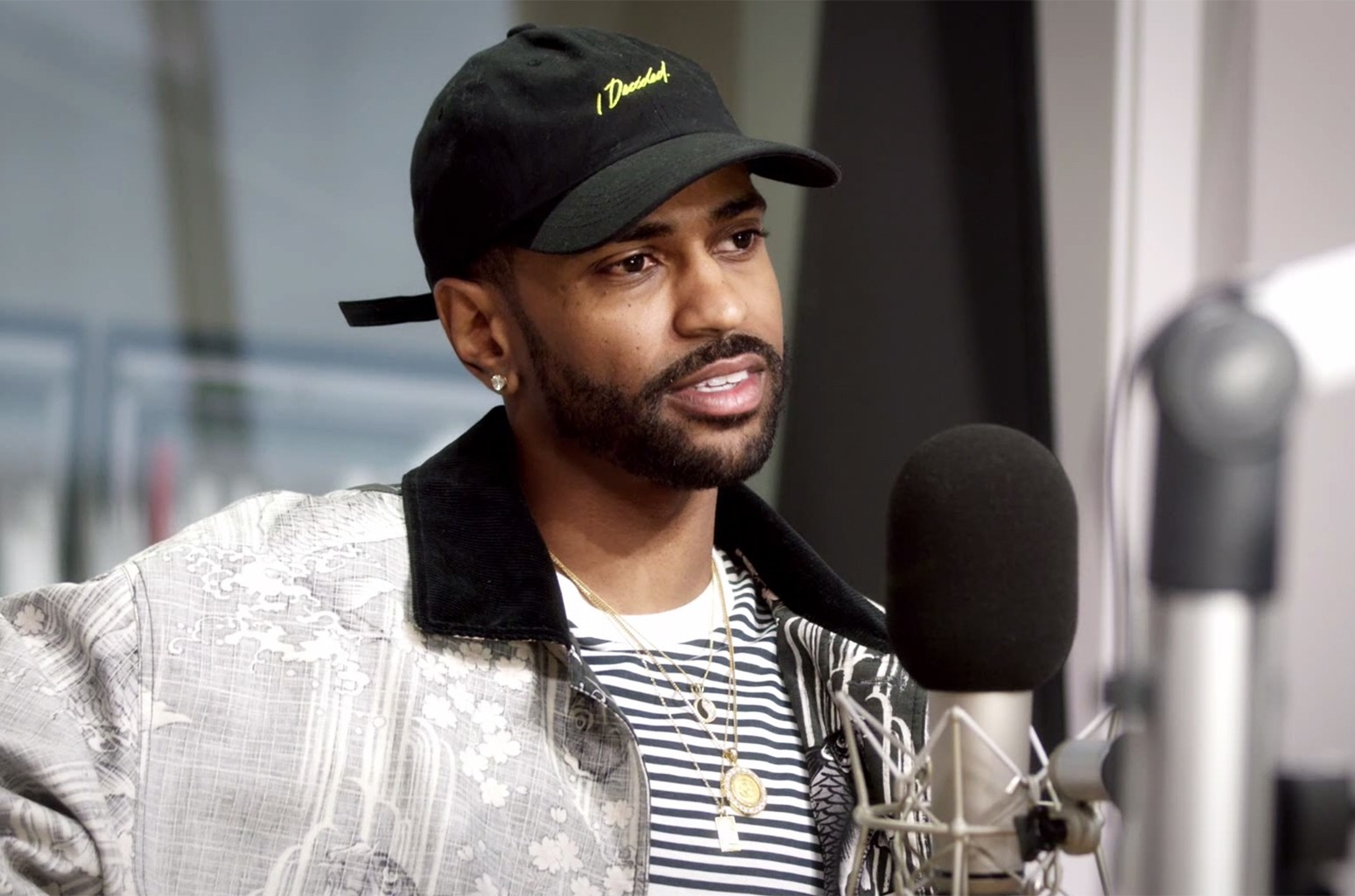 Big Sean during an interview with Zane Lowe.