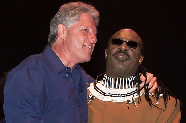 Bill Clinton and Stevie Wonder