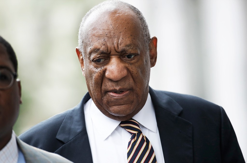 Bill Cosby arrives at his trial for jury deliberations at the Montgomery County Courthouse on  June 14, 2017, in Norristown, Pa.
