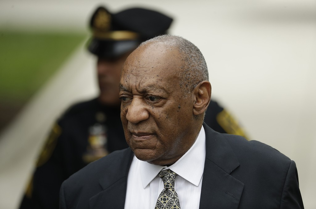 Bill Cosby arrives at the Montgomery County Courthouse during his sexual assault trial on June 15, 2017 in Norristown, Pa.