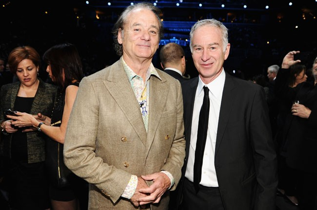 Bill Murray and John McEnroe at the 2014 Rock And Roll Hall Of Fame Induction Ceremony