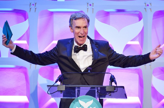 Bill Nye speaks onstage during the 7th Annual Shorty Awards