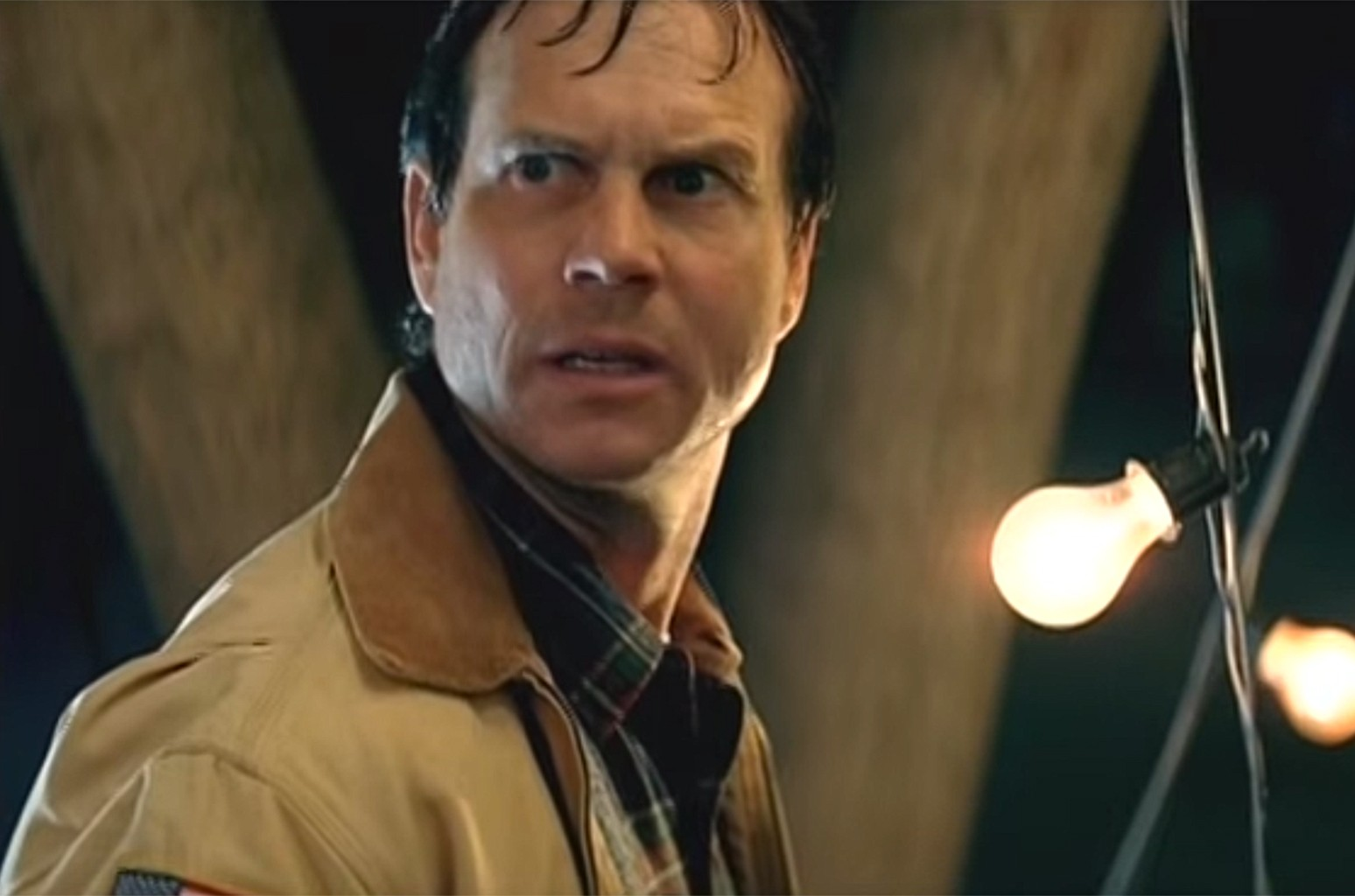 """Video still of Bill Paxton in the music video for """"Eat You Alive"""" by Limp Bizkit."""