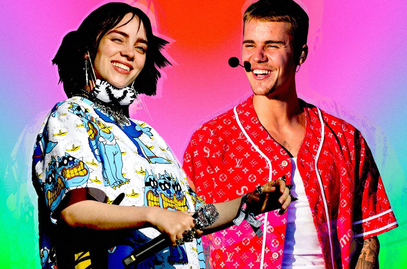 Billie Eilish and Justin Bieber