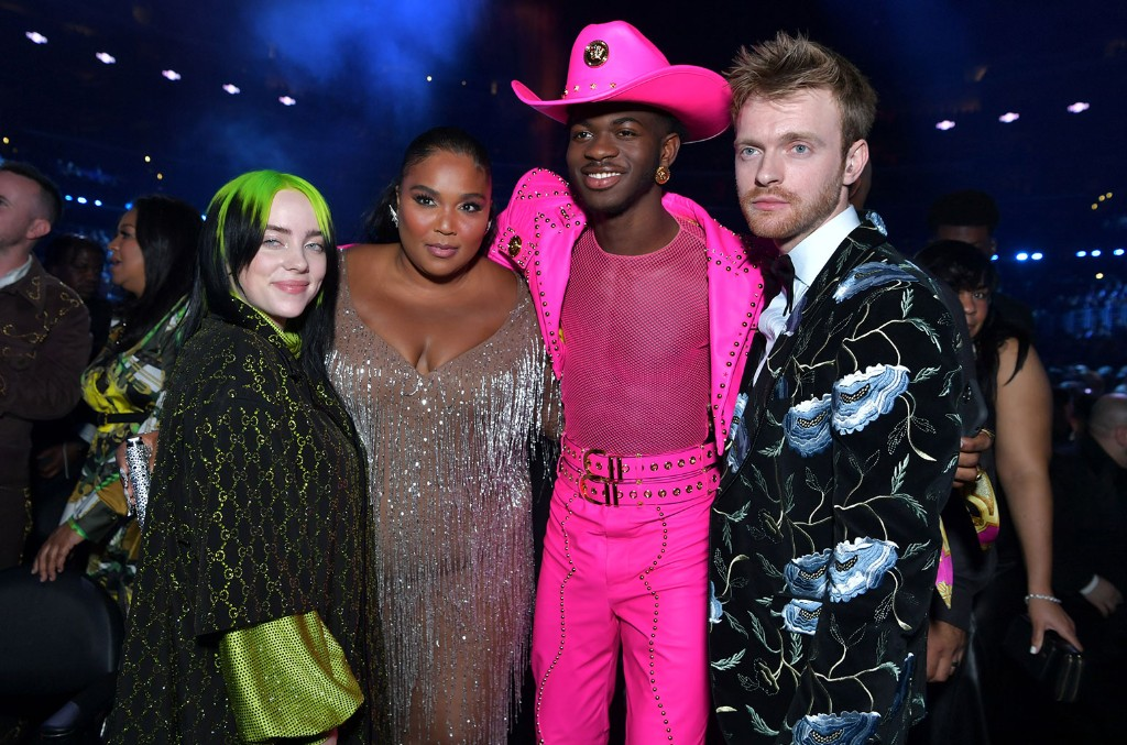 Billie Eilish, Lizzo Lil Nas X, and Finneas O'Connell
