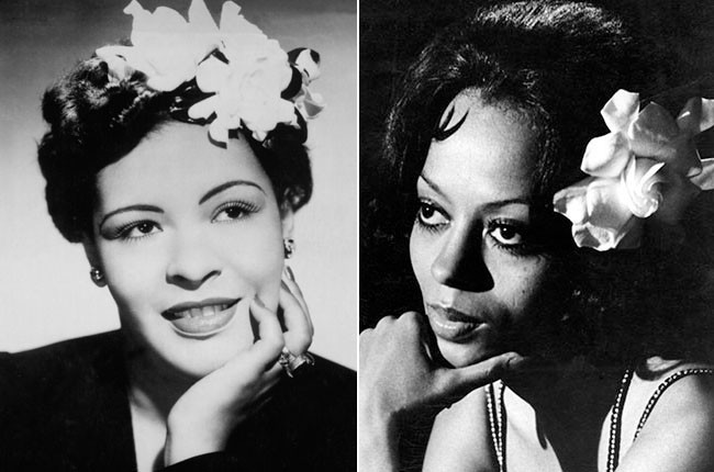 Billie Holiday and Diana Ross as Billie Holiday