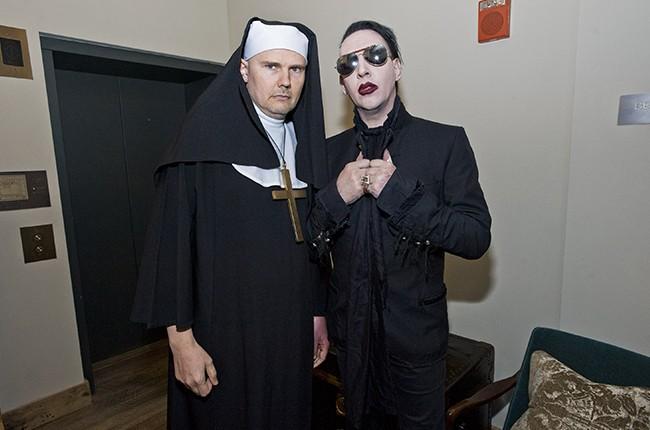 Billy Corgan and Marilyn Manson 2015
