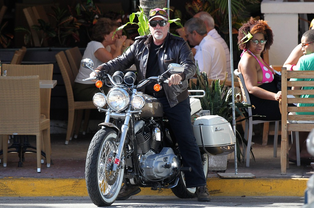 Billy Joel on a motorcycle