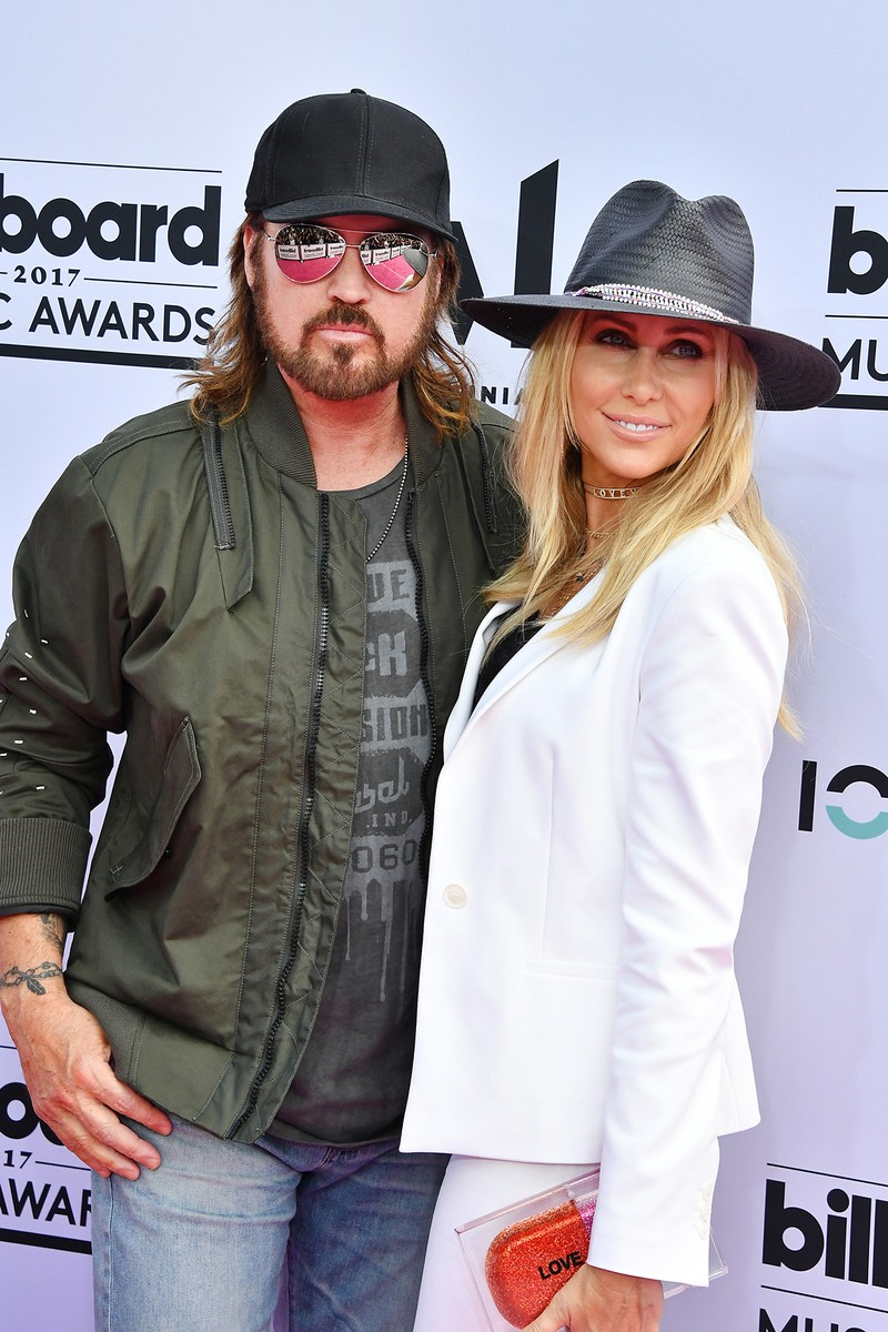 Billy Ray Cyrus and Tish Cyrus attend the 2017 Billboard Music Awards at T-Mobile Arena on May 21, 2017 in Las Vegas.