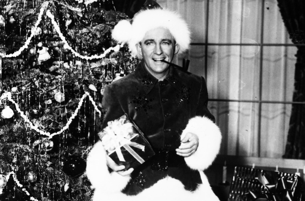 Bing Crosby in the film 'White Christmas' in 1954.