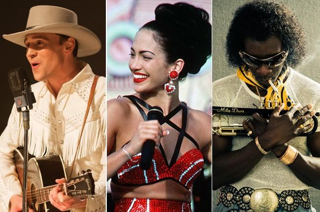 Tom Hiddleston as Hank Williams; Jennifer Lopez as Selena; Don Cheadle as Miles Davis.