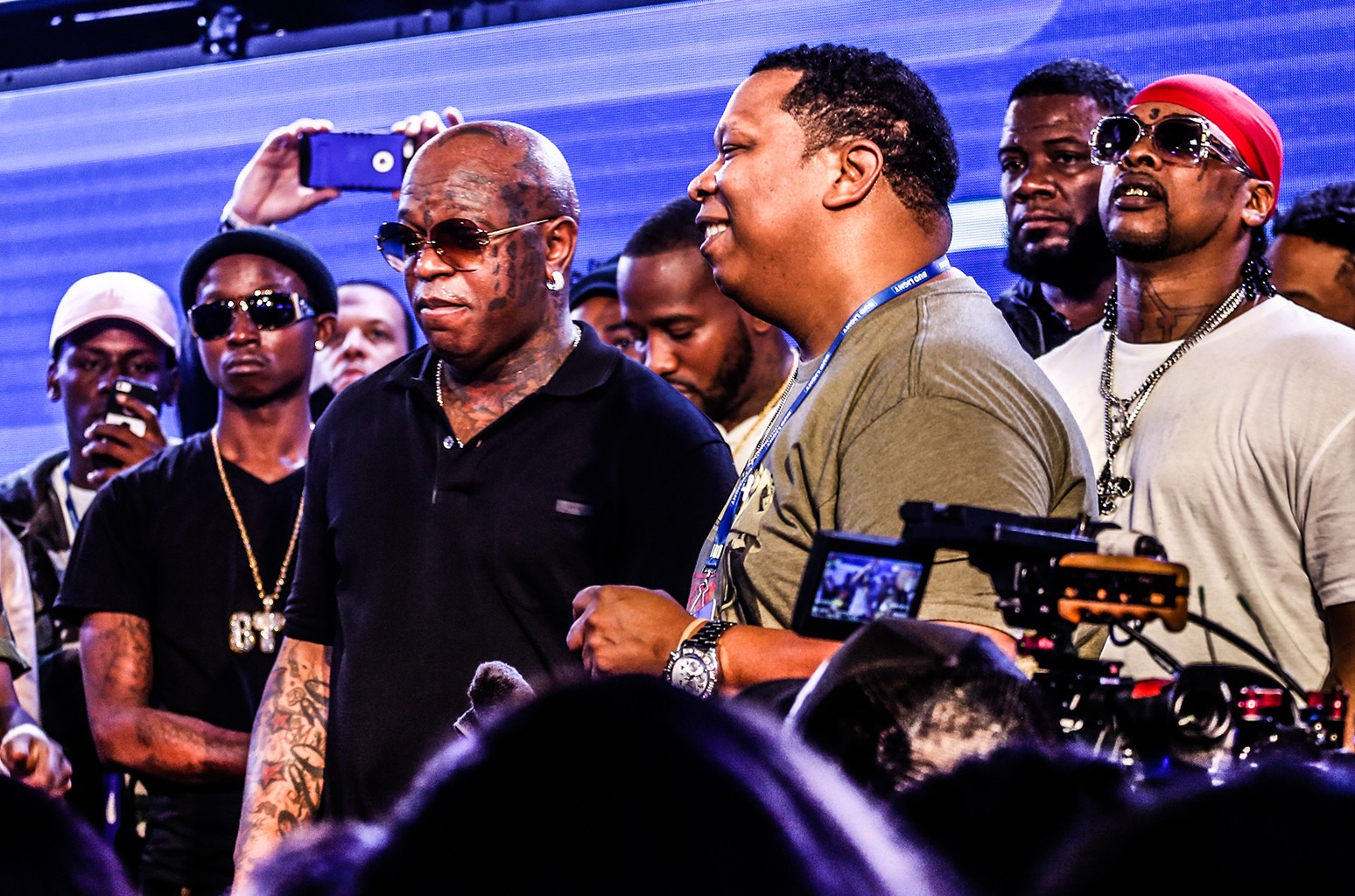 Birdman and Mannie Fresh perform during All Star Weekend with the Bud Light Crew HQ on Feb. 18, 2017 in New Orleans.