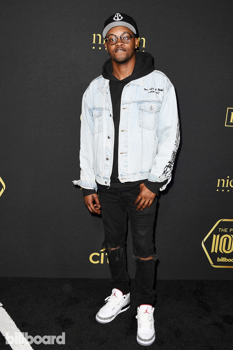 BJ the Chicago Kid attends Billboard Power 100 - Red Carpet at Cecconi's on Feb. 9, 2017 in West Hollywood, Calif.