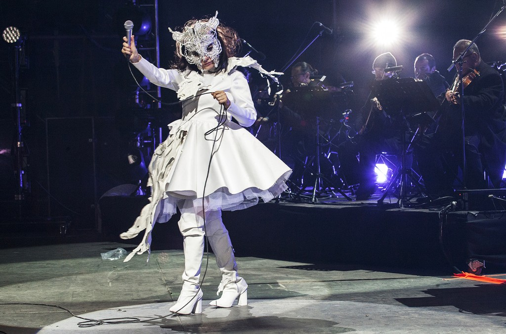Bjork performs at the 2017 Ceremonia Festival on April 2, 2017 in Toluca, Mexico.