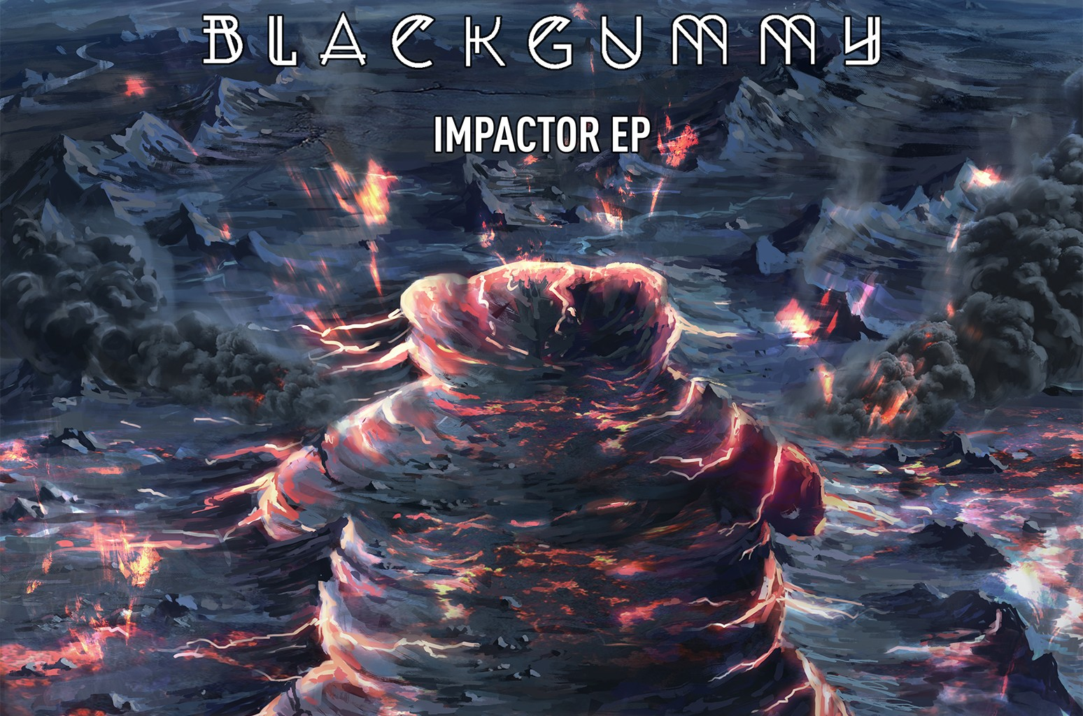 """Cover art for """"Impactor"""" by BlackGummy."""