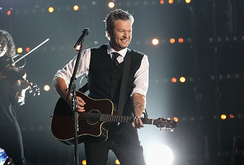 Blake Shelton performs onstage at the 49th annual CMA Awards