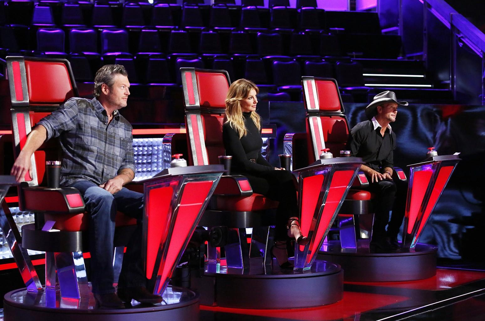 "Blake Shelton, Faith Hill and Tim McGraw on ""The Voice"""