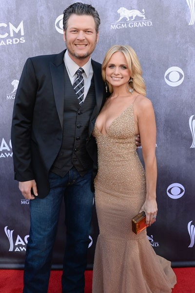 Co-host Blake Shelton and recording artist Miranda Lambert