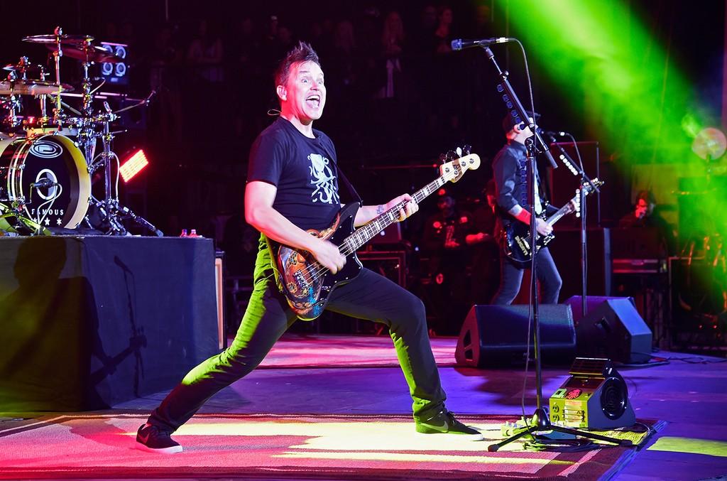 Blink-182 perform onstage at KROQ Weenie Roast 2016