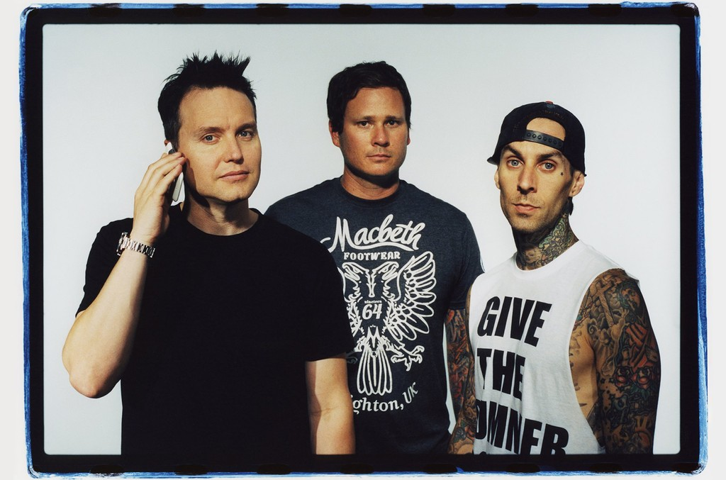 Blink 182 poses for a publicity photo shoot at the Sound Matrix Studio for their album, Neighborhoods in Orange County, California 2011.