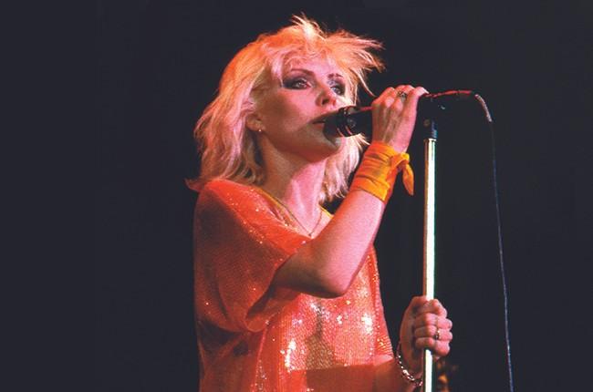 Debbie Harry performing in 1980