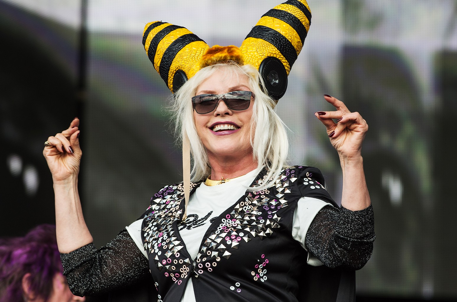 Debbie Harry of Blondie performs at Barclaycard British Summertime at Hyde Park on June 30, 2017 in London, England.
