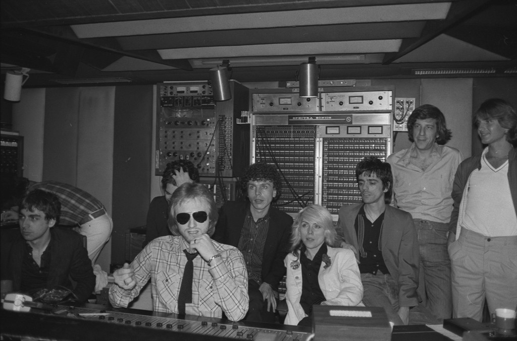 Blondie at Record Plant Studio in New York City.