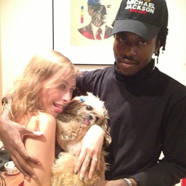 Marnie the Dog and Dev Hynes of Blood Orange, 2014.