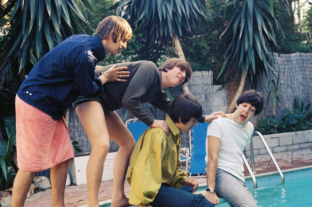 The Beatles photographed in Bel Air, Calif., Aug. 23-24, 1964.