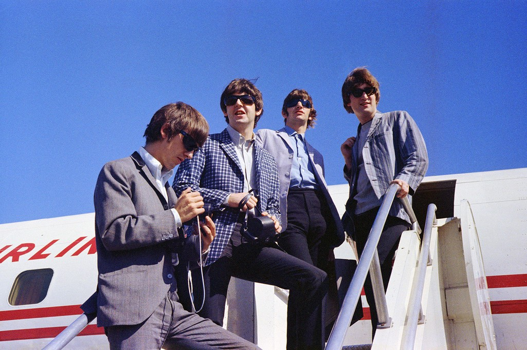 The Beatles at Seattle-Tacoma Airport on Aug. 22, 1964.