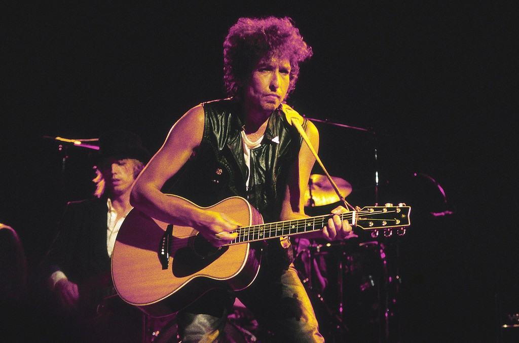 Bob Dylan performs in 1980.