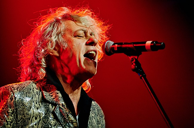 Bob Geldof of The Boomtown Rats performs