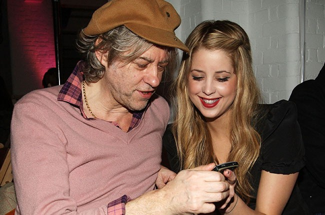 Peaches Geldof and father Sir Bob Geldof