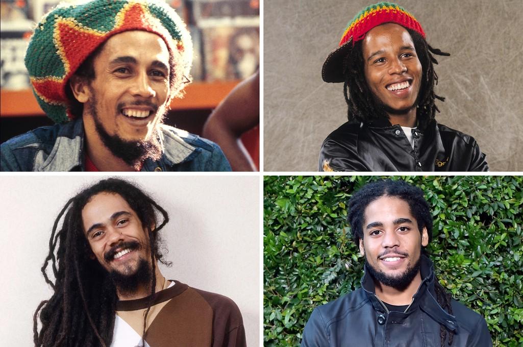Bob Marley, Ziggy Marley, Skip Marley and Damien Marley