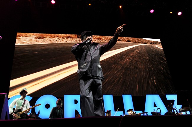 Bobby Womack at Coachella 2010 with the Gorillaz