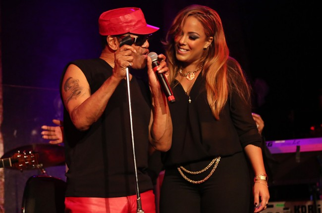Bobby Womack and his daughter Ginare Womack