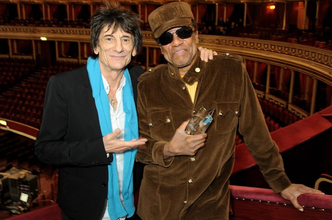 Ronnie Wood and Bobby Womack in 2013