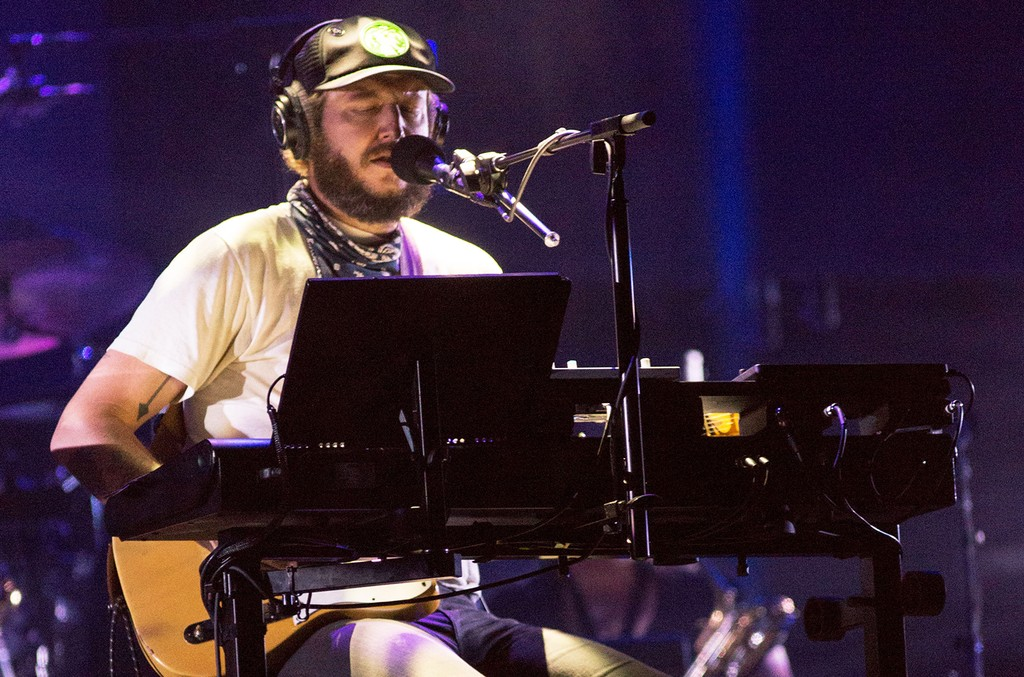 Justin Vernon of Bon Iver performs at Eaux Claires Music Festival on Aug. 12, 2016.