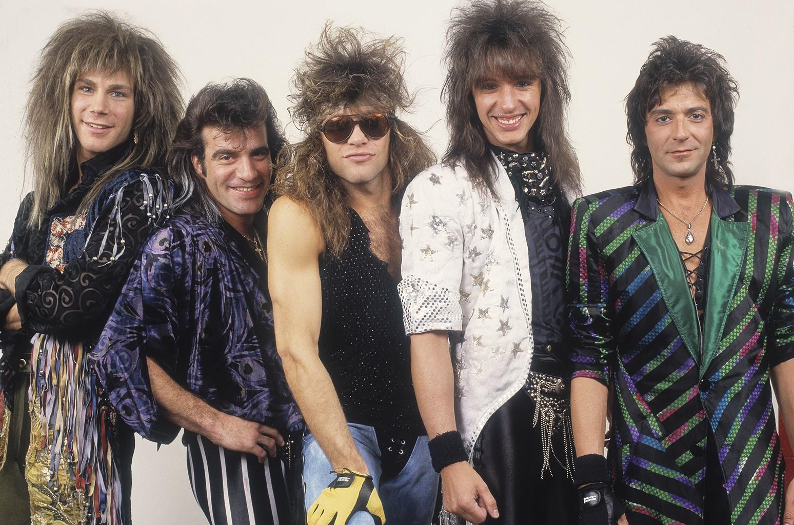 Bon Jovi photographed in 1987.
