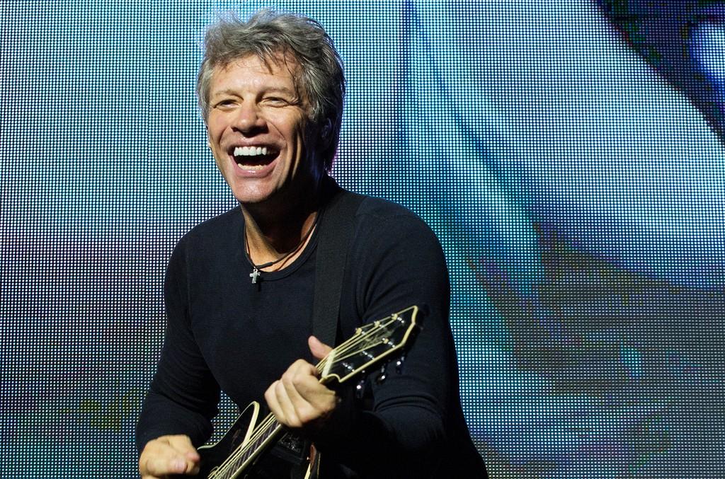 Jon Bon Jovi of Bon Jovi performs at Park HaYarkon on Oct. 3, 2015 in Tel Aviv, Israel.