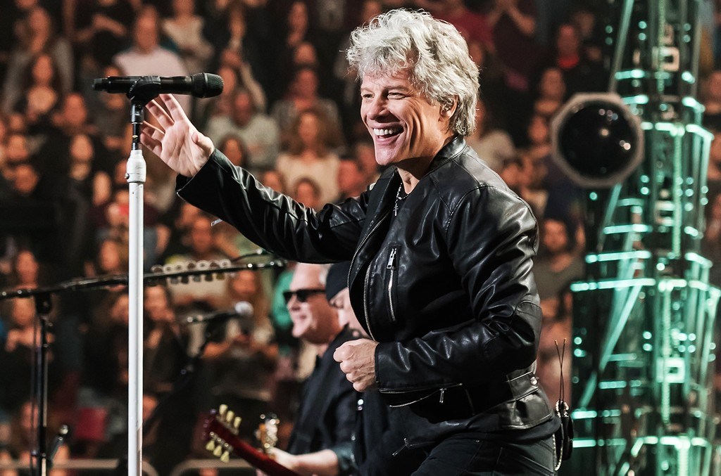 Jon Bon Jovi performs during Bon Jovi 'This House Is Not for Sale' tour at Wells Fargo Center on March 31, 2017 in Philadelphia.