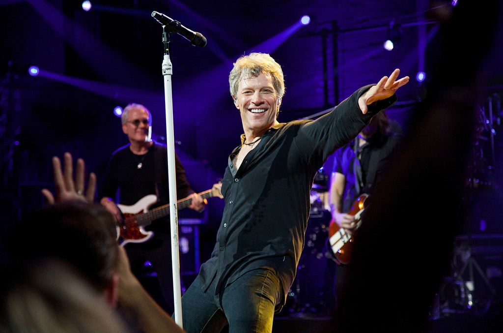 Bon Jovi performs at Broadway's Barrymore Theater