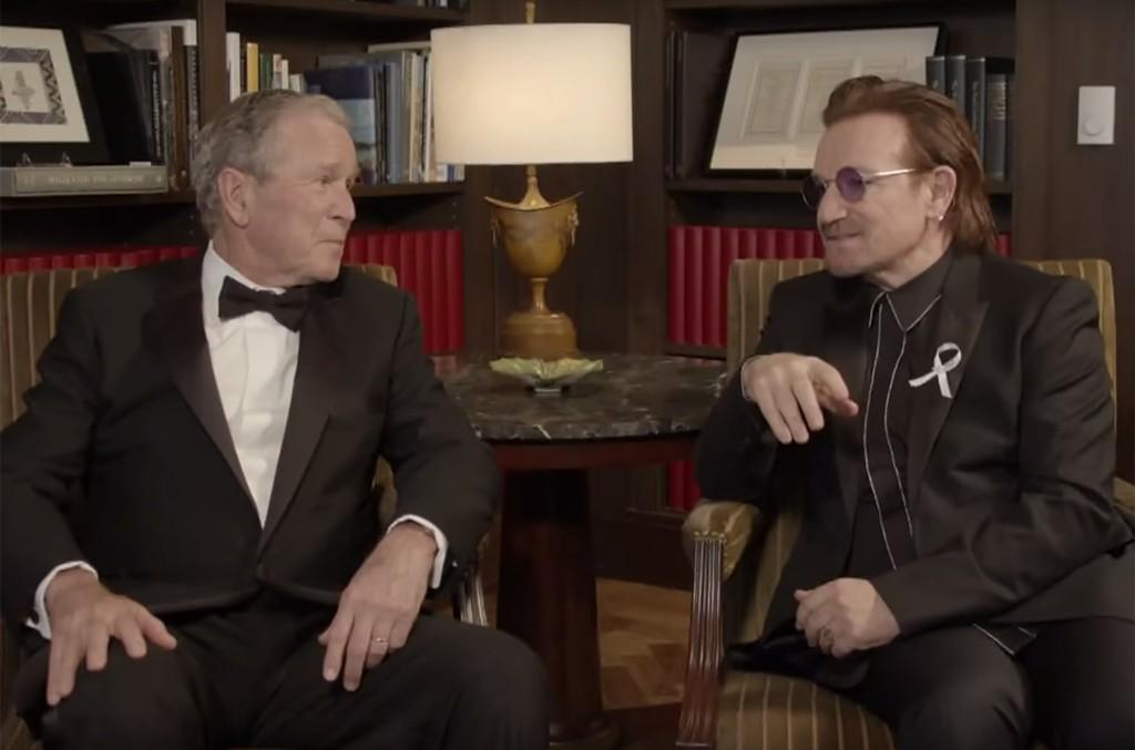 Bono and George W. Bush