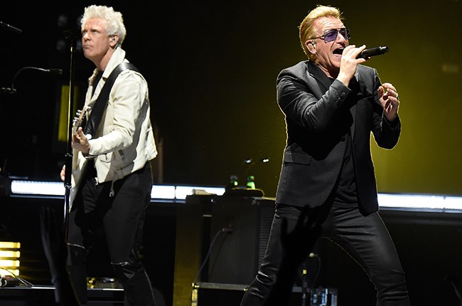 Adam Clayton and Bono of U2
