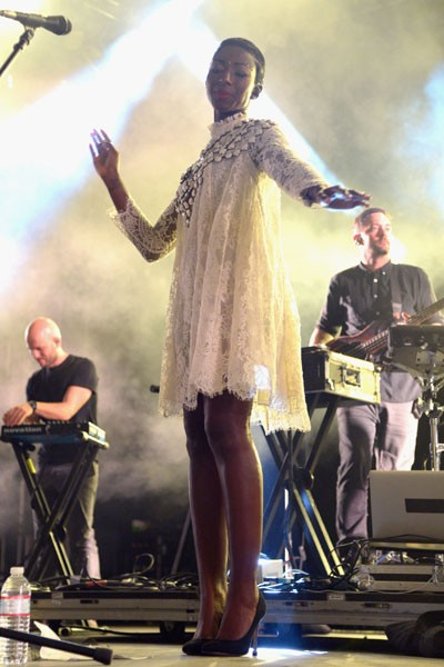 Szjerdene performs with Bonobo onstage during day 1 of 2014 Coachella