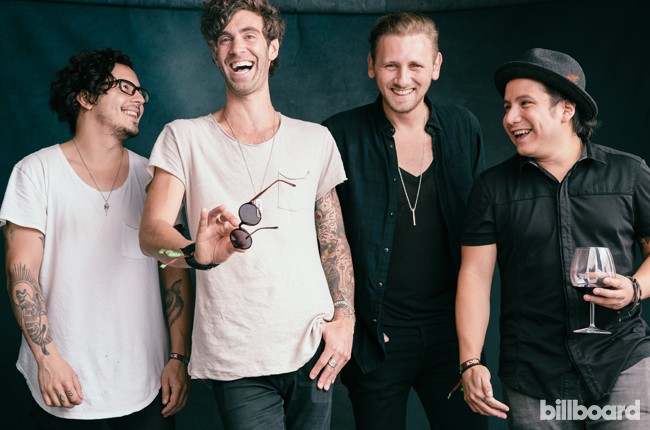American Authors photographed backstage at the 2015 BottleRock Napa Valley Music Festival