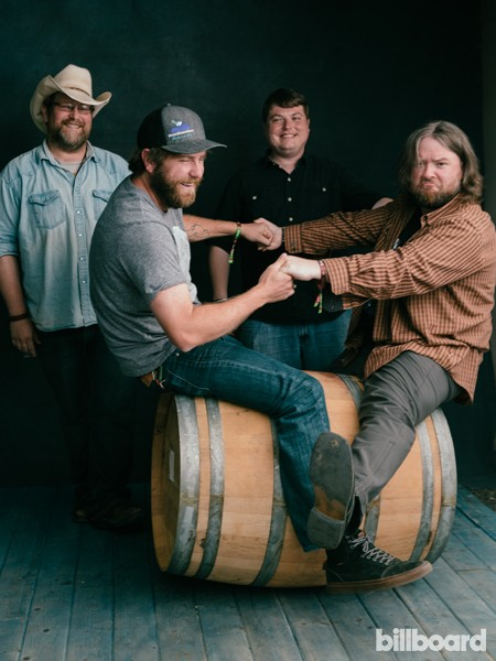 Trampled By Turtles photographed backstage at the 2015 BottleRock Napa Valley Music Festival