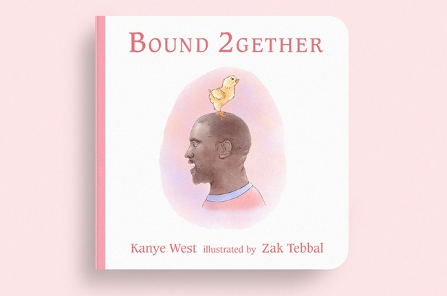 """Cover of Zak Tebbal's """"Bound 2gether"""" book designs inspired by and including lyrics to Kanye West's """"Bound 2""""."""
