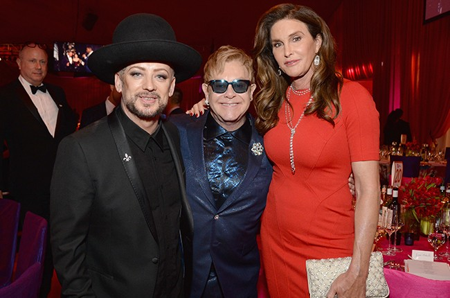 Boy George, Sir Elton John Caitlyn Jenner 2016